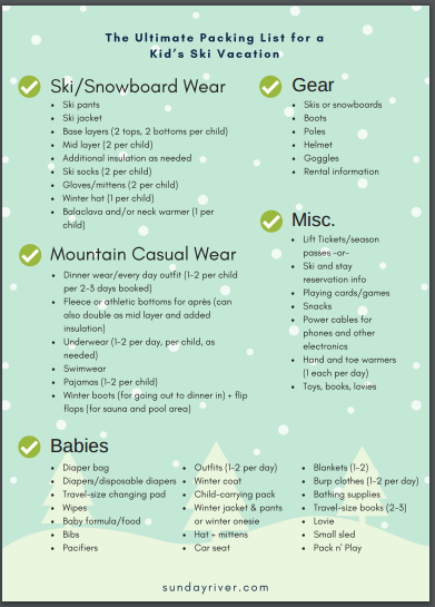 How To Do Christmas On The Slopes With Kids The First Chair