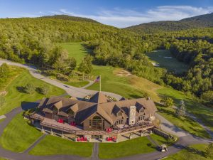 Sunday River Golf Club's iconic clubhouse