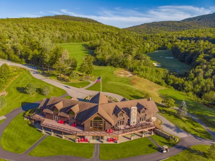 Aerial view of Sunday River Golf Club